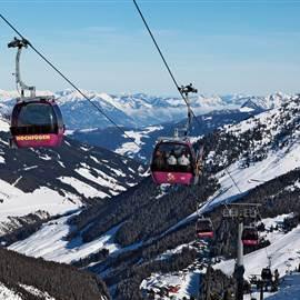 Gondola in the mountains in Hochfügen